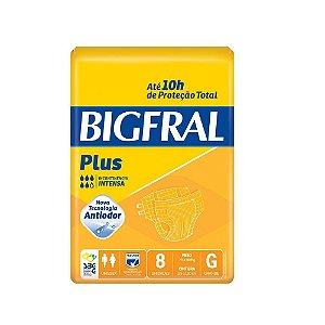 Fralda Geriátrica Bigfral Plus Grande com 8 unidades