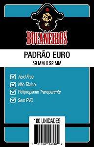 SLEEVES BUCANEIROS EURO 59X92 - 100 UNIDADES