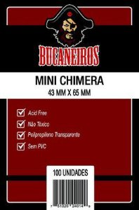 SLEEVES BUCANEIROS MINI CHIMERA 43X65 - 100 UNIDADES