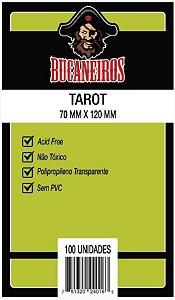 SLEEVES BUCANEIROS TAROT 70X120 - 100 UNIDADES