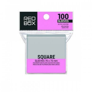 SLEEVES REDBOX SQUARE (70X70) - 100 UNIDADES
