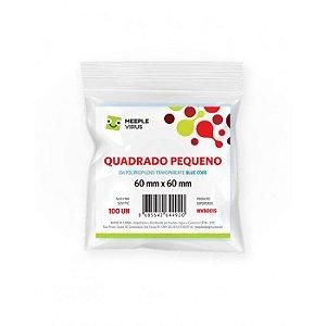 SLEEVES MEEPLE VIRUS BLUE CORE QUADRADO PEQUENO (60X60) - 100 UNIDADES