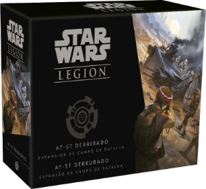 STAR WARS LEGION: AT-ST DERRUBADO (CAMPO DE BATALHA)