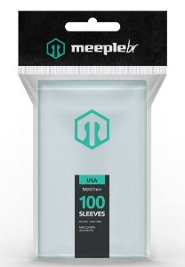 SLEEVES MEEPLE BR USA (56x87) - 100 UNIDADES