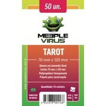 SLEEVES MEEPLE VIRUS TAROT (70X120) - 100 UNIDADES
