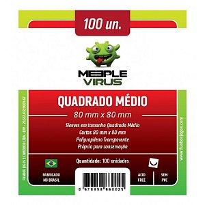 SLEEVES MEEPLE VIRUS QUADRADO MÉDIO (80X80) - 100 UNIDADES