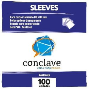 SLEEVES CONCLAVE QUADRADO (80X80) - 100 UNIDADES