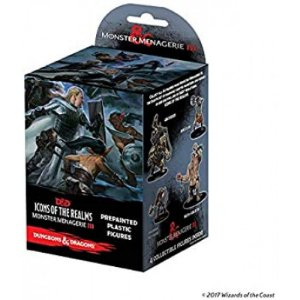 D&D – ICONS OF THE REALMS – MONSTER MENAGERIE 3 (BOOSTER BRICK) - 1 UNIDADE - PREMIUM FIGURES (EM INGLÊS)