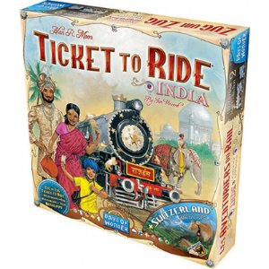 TICKET TO RIDE: ÍNDIA E SUÍÇA (EXPANSÃO)