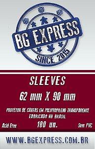 SLEEVES BG EXPRESS 62X90 - 100 UNIDADES