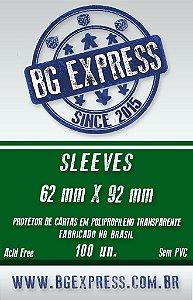 SLEEVES BG EXPRESS 62X92 - 100 UNIDADES