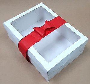 Caixa Presente  com Laço de Papel 22X16X8cm  - 10 unid.