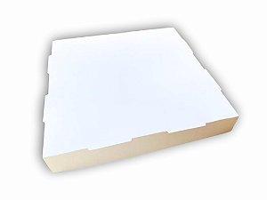 Caixa para Salgados Fundo Papelão pardo - 40x40x5 - 1 unid
