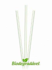 Canudo Sachê Biodegradável 21cmx10mm - c/ 100unid