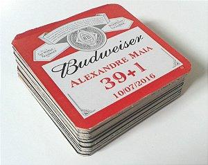 Bolacha para Copo Budweiser