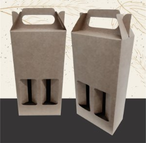 Caixa para 2 Garrafas de Cerveja LONG NECK-  330ML - 10 unid.