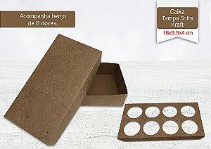 Caixa Kraft 8 Doces Sem Visor - 10 unid.