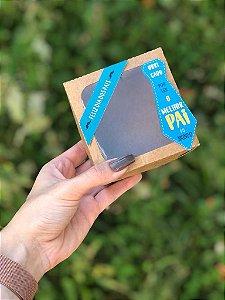 Caixa Kraft  4 Doces Com Visor + TAG'S Dias dos Pais - 10 unid.