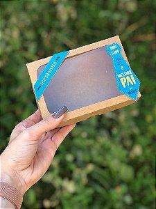 Caixa Kraft 6 Doces Com Visor + TAG Dia dos Pais - 10 unid.