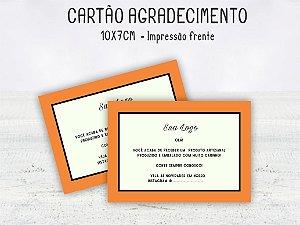 Cartão Agradecimento 10x7cm  Frente - 100 unid.