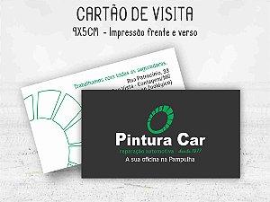 Cartão de Visita 9x5cm - Frente e verso