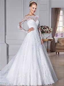 Vestido de Noiva com Decote Luxus