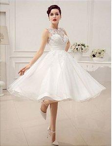 Vestido de Noiva Rendado Luxurious