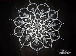Pôster Mandala Renda de neve