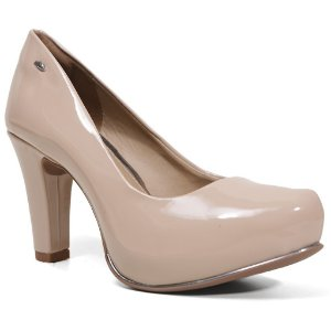 Sapato Dakota B7891 Scarpin Meia Pata Feminino Nude Verniz