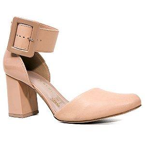 Sapato Tanara T0123 Casual Salto Médio Feminino Nude