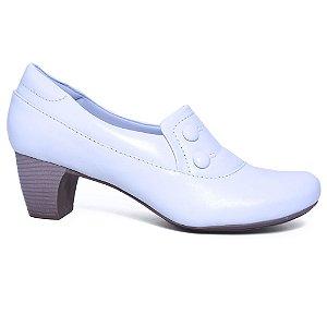 Sapato Feminino Neftali 4775 Branco Salto Medio