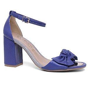Sandália Ramarim Casual 16-96202 Salto Médio feminina Azul Mestiço