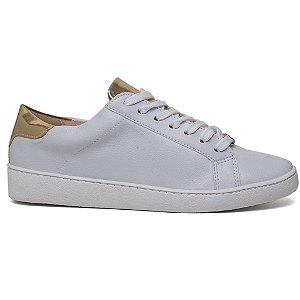 Tênis Off Line 5084-20362 Feminino Casual Branco Dourado