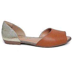 Sandália Dakota Z1461 Rasteira Feminina Caramelo Ouro