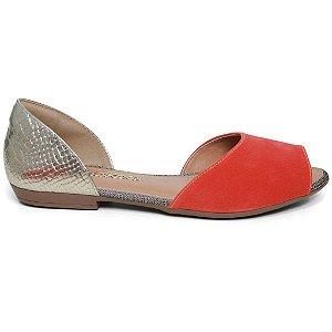Sandália Dakota Z1461 Rasteira Feminina Tangerina Ouro