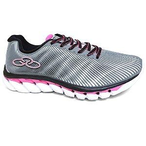 Tênis Olympikus Perfect 302 Feminino Cinza Pink