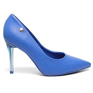 Sapato Scarpin Vizzano 1230100 Feminino Napa Fluor Azul Neon