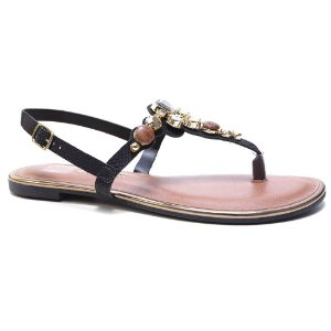 Sandália Dakota Z1362 Rasteira Feminina Preto