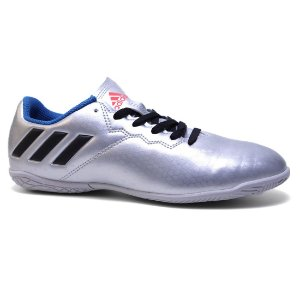 Chuteira Adidas Messi 16.4 IN J S79649 Masculina Junior Prata Black Blue