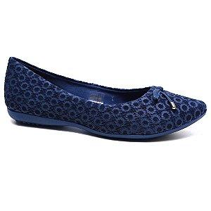 Sapatilha Bottero 261002 Feminina Couro Nobuck Tanino Azul jeans