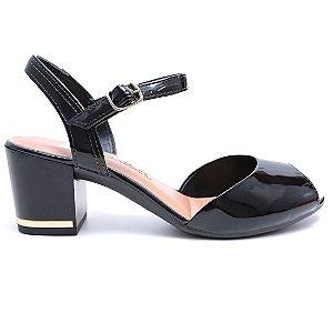 Sandália Dakota Z1652 Salto Feminina Preto Verniz