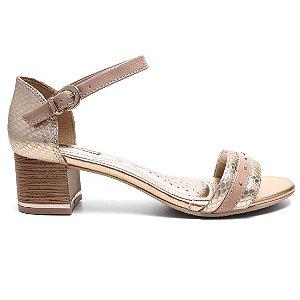 Sandália Comfortflex 16-52405 Feminina Nude Ouro
