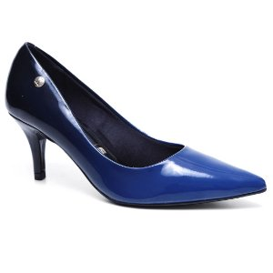 Sapato Vizzano 1185.102 Scarpin Feminino Mult Azul  Verniz