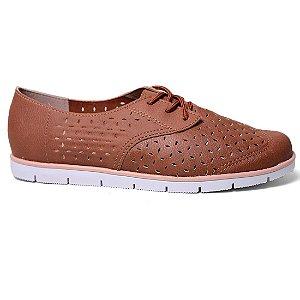 Sapato Oxford Moleca 5613.101 Feminino Caramelo