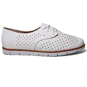 Sapato Oxford Moleca 5613.101 Feminino Branco