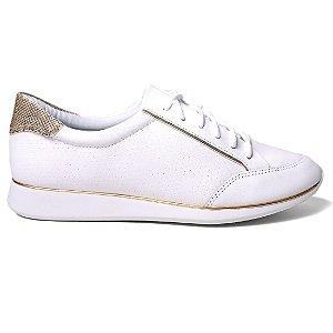 Tênis Comfortflex 16-50402 Feminino Branco Ouro