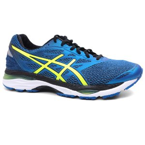 Tênis Asics Cumulus 18 T6C3N Masculino Royal Yellow Black
