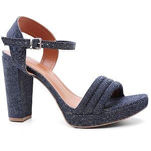 Sandália Bebecê 8411-744 Meia Pata Feminina Azul Jeans