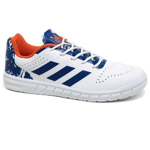 Tênis Adidas Quicksport Junior H68452 White Royal Laranja Tam 30 ao 36