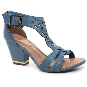 Sandália Dakota Z1285 Salto Feminina Azul Jeans